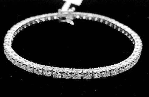 18K白金 造型鑽手鍊 鑽石共46PCS 女用