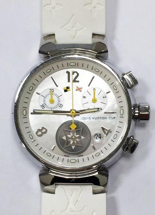 Louis Vuitton 路易威登 LV Tambour 系列 計時碼表 珍珠母貝面盤 女用