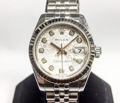 ROLEX 勞力士 179174 蠔式恆動腕錶 十鑽包台紀念面 女用