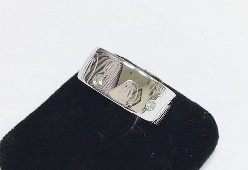 CARTIER 卡地亞 18K白金 Logo Cartier系列 原裝鑽石戒指