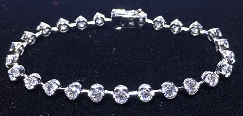 18k白金 造型鑽手鍊 26PCS鑽石 女用