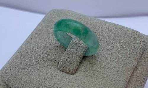 天然翡翠 玉套造型戒指 玉套墜子兩用