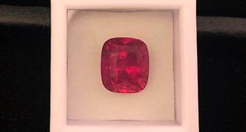 G.R.S 證書 紅寶裸石 枕型切工 重量7.52 CTS