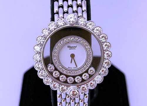 CHOPARD 蕭邦 18k白金 Happy Diamond 女用