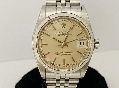 ROLEX 勞力士 不鏽鋼 蠔式恆動日期型 Ref.68274 腕錶 中型
