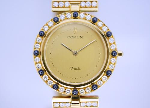 CORUM 18K黃金 整只原裝鑚錶