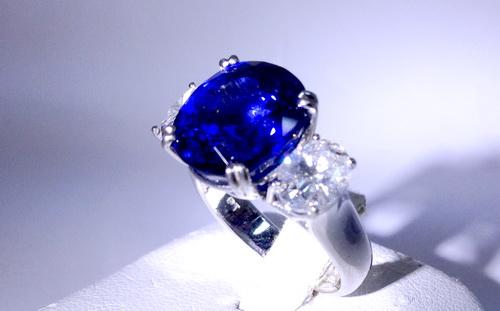 GRS證書 主石8.49CTS 斯里蘭卡 皇家藍寶 造型鑽戒