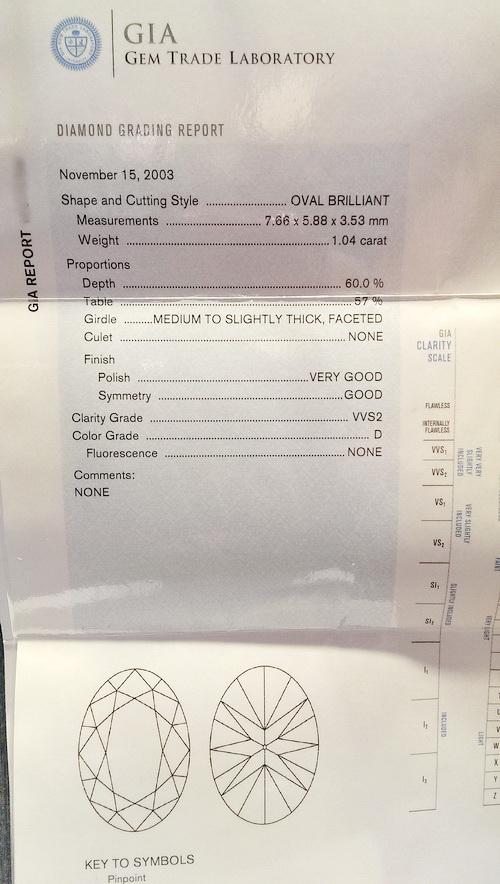 鑽石造型耳飾 白金18K 附GIA證書 女用