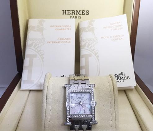 HERMES 愛瑪仕 H-our系列 原裝鑚錶 女用