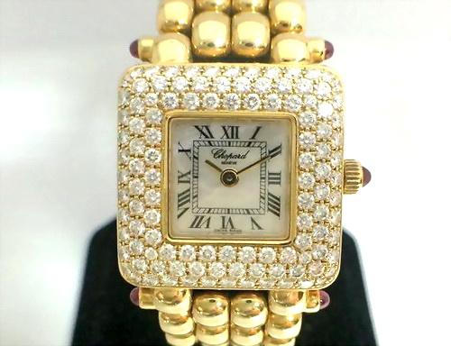CHOPARD 蕭邦 18k黃金 原裝鑚圈珠寶錶 Ref.10/6115-21 女用