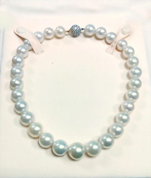 南洋天然豪華珍珠鑚項鍊 女用