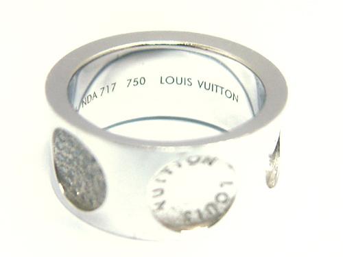 Louis Vuitton 路易威登 18k白金 LARGE EMPREINTE 鑽石戒