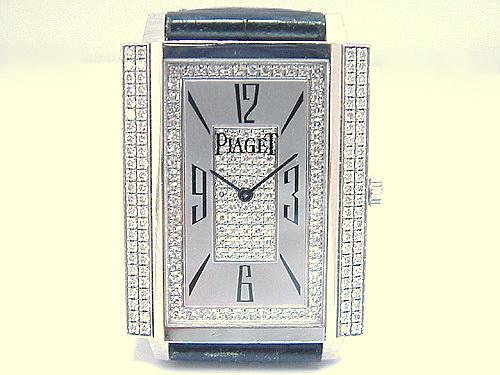 PIAGET 伯爵 18k白金 Ref.1967巴黎釘板系列 珠寶錶 男用