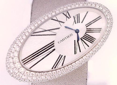 CARTIER 卡地亞 18K白金Baignoire S系列 原裝女用鑽錶