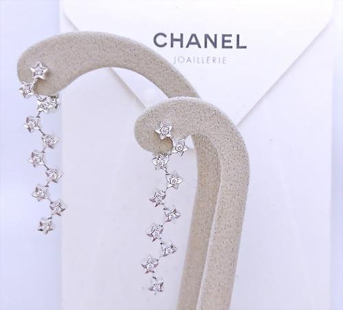 CHANEL 香奈兒 星星造型鑚耳環
