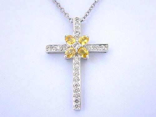 18K白金 造型鑽項鍊 女用