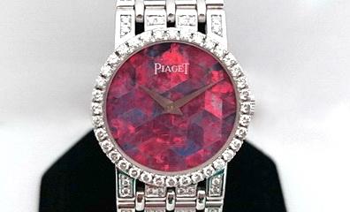 PIAGET 伯爵 18k白金 珠寶錶 女用