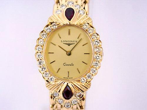LONGINES 浪琴 Quartx系列 18K金 真鑽女錶