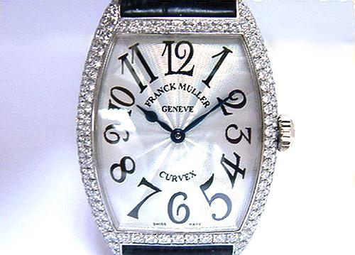 Franck Muller 法蘭克穆勒 18K白金 Ref.7502 QZD 珠寶錶 中型