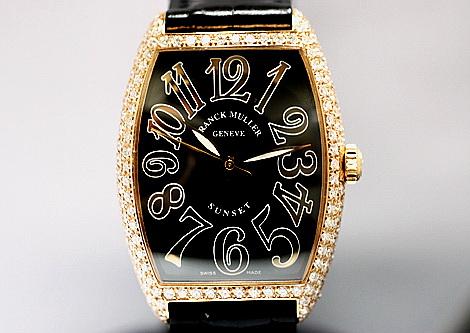 F.M 法蘭克穆勒 SUNSET系列 18k玫瑰金  男用腕錶