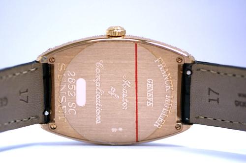 FRANCK MULLER 法蘭克穆勒 SUNSET系列 18k玫瑰金 男用腕錶