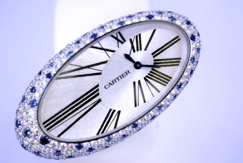 CARTIER 卡地亞 18K白金 Baignoire S系列 原裝女用鑽錶