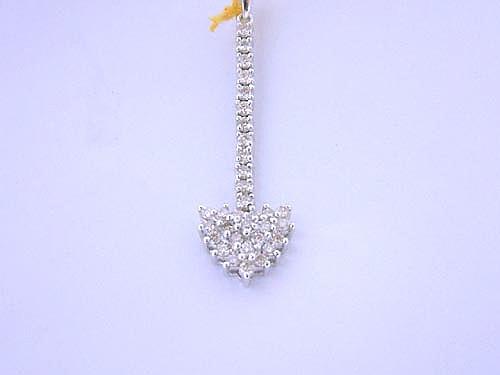 18k白金 鑽石吊墬