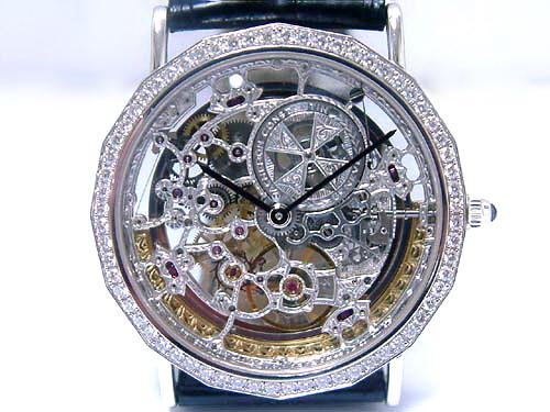 V.C 江詩丹頓 18k白金 複雜系列 超薄鏤空腕錶 男用