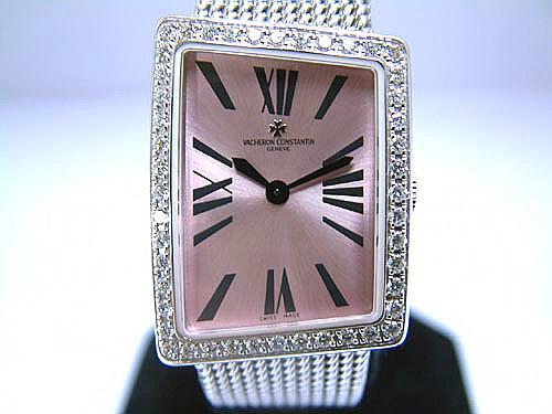 V.C 江詩丹頓 18k白金 1972系列 原裝珠寶錶 女用