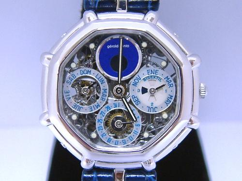 Gerald Genta 尊達 成功系列 鉑金 萬年曆 NO.01 腕錶 男用