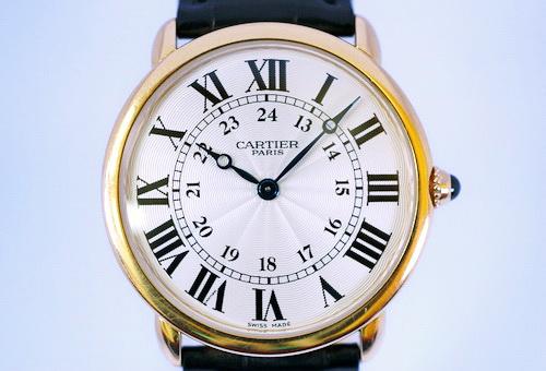 CARTIER 卡地亞 RONDE LOUIS系列 18K玫瑰金 男用腕表
