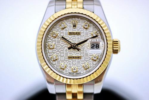 ROLEX 勞力士 179173 蠔式恆動腕錶 包台十鑽白色紀念面