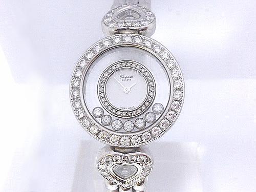 CHOPARD 蕭邦 18k白金 Happy Diamond 珠寶錶 女用