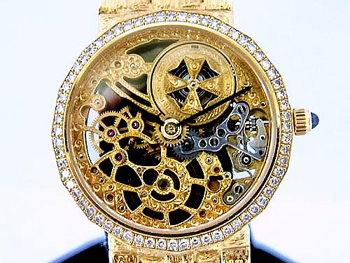 VACHERON CONSTANTIN 江詩丹頓 18K黃金 鏤空經典女妝腕錶
