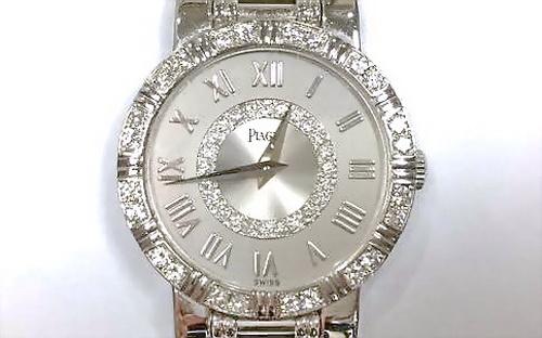 PIAGET 伯爵 18k白金 DANCER系列 珠寶錶 女用