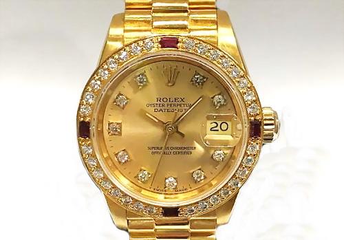 ROLEX 勞力士 18k金 蠔式恆動日期型 Ref.69178 HK 腕錶