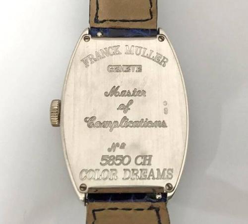 F.M 法蘭克穆勒 18k白金 Ref.5850CH 瘋狂時刻 腕錶