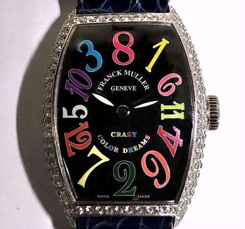 FRANCK MULLER 法蘭克穆勒 18K白金 Ref.5850CH 瘋狂時刻 腕錶