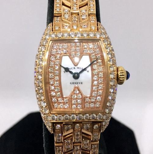 Franck Muller 法蘭克穆勒 玫瑰金 REF.2500 QZ D CD珠寶錶 女用