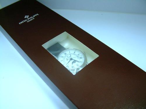 P.P 百達翡麗 鉑金 Ref.5059P 飛返萬年曆 腕錶 男用