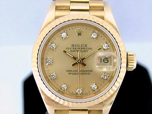 ROLEX 勞力士 H.K 18k金 蠔式恆動日期型 Ref.69178 腕錶 女用