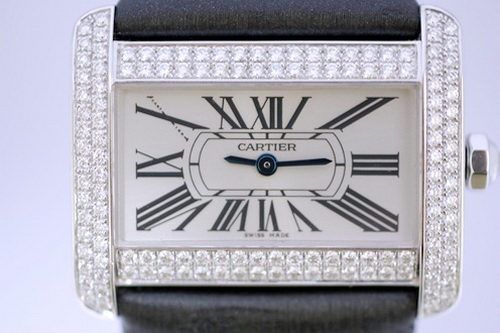 CARTIER TANK DIVAN 沙發 鑽錶系列 女用腕錶